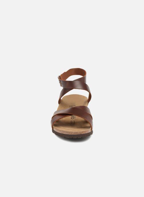 Sandales et nu-pieds Papillio Lola CuirNaturel Marron vue portées chaussures