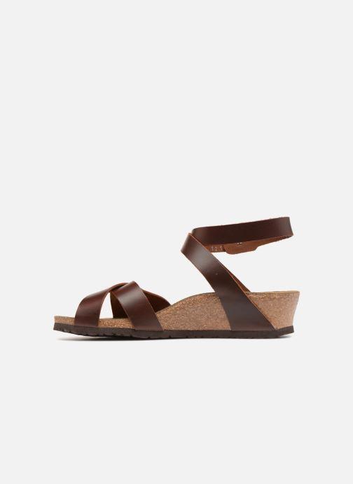 Sandalen Papillio Lola CuirNaturel braun ansicht von vorne