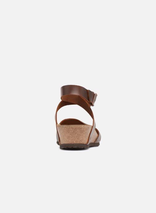 Sandalen Papillio Lola CuirNaturel braun ansicht von rechts