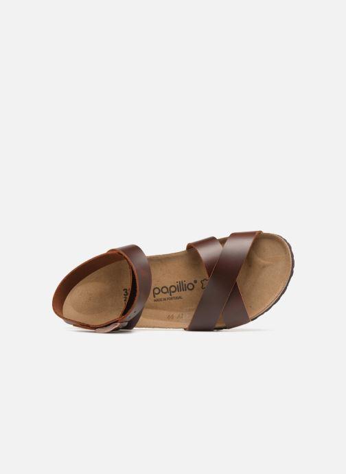 Sandalen Papillio Lola CuirNaturel braun ansicht von links