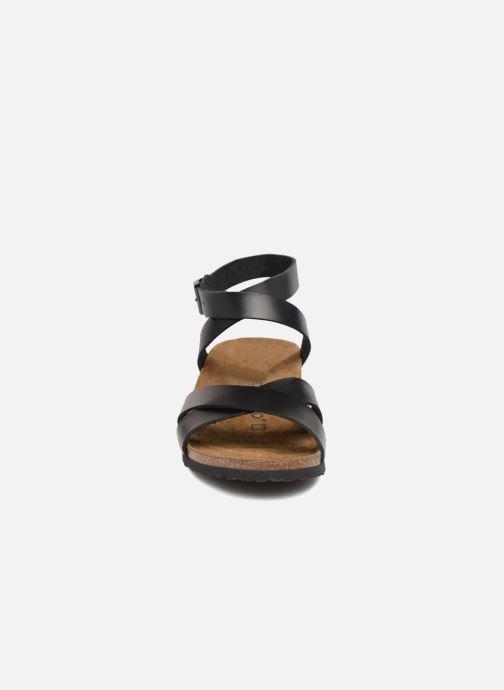 Sandales et nu-pieds Papillio Lola CuirNaturel Noir vue portées chaussures