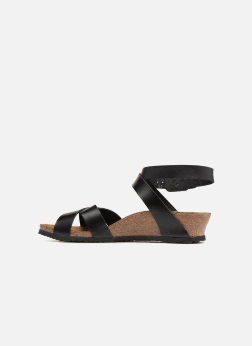 Sandales et nu-pieds Papillio Lola CuirNaturel Noir vue face
