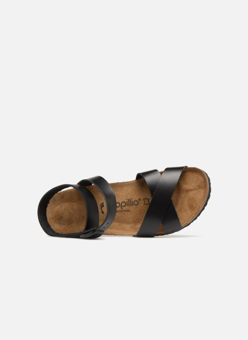 Sandales et nu-pieds Papillio Lola CuirNaturel Noir vue gauche