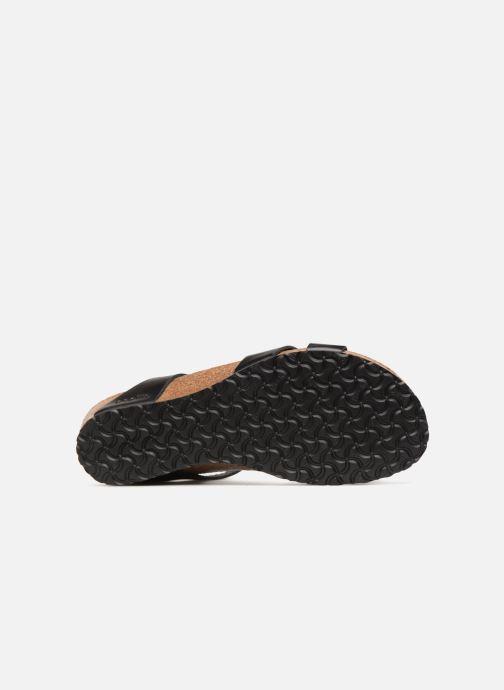 Sandales et nu-pieds Papillio Lola CuirNaturel Noir vue haut