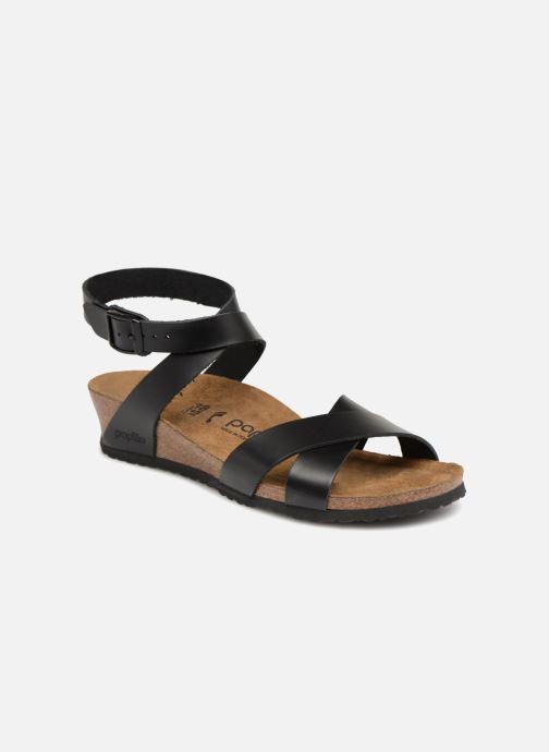 Sandales et nu-pieds Papillio Lola CuirNaturel Noir vue détail/paire