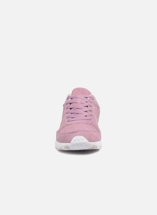 Baskets Hummel 3-S SUEDE Rose vue portées chaussures