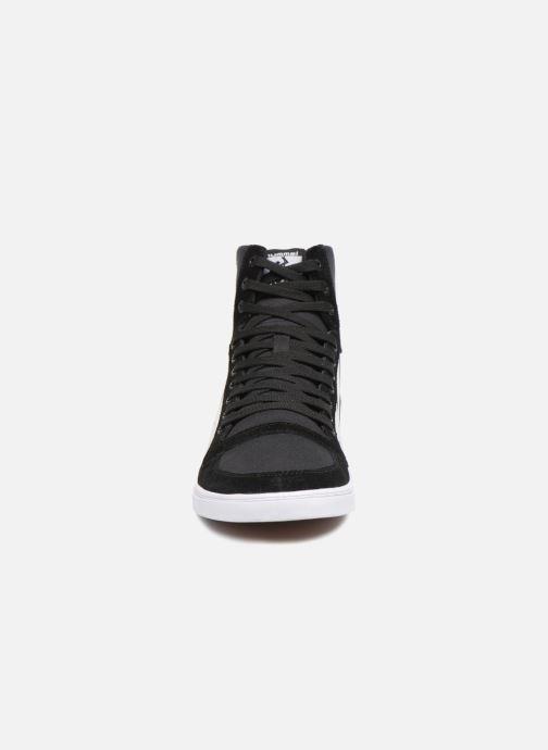 Sneakers Hummel Hummel Slimmer Stadil High canvas Nero modello indossato