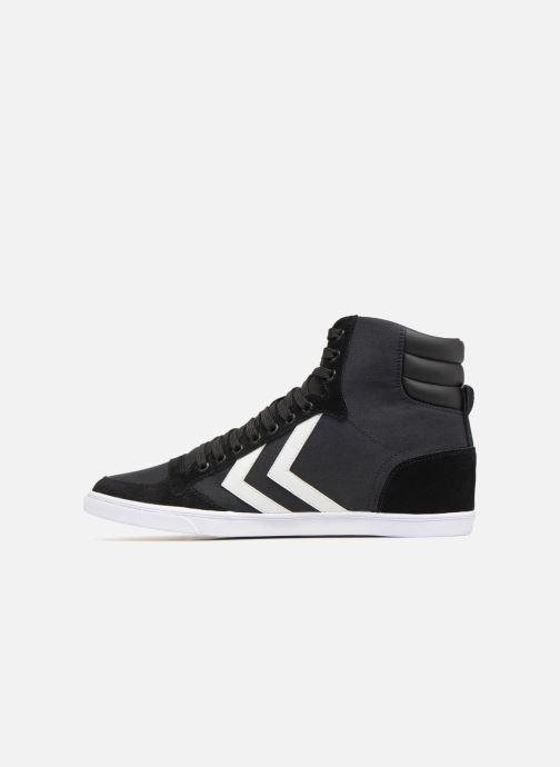 Sneaker Hummel Hummel Slimmer Stadil High canvas schwarz ansicht von vorne