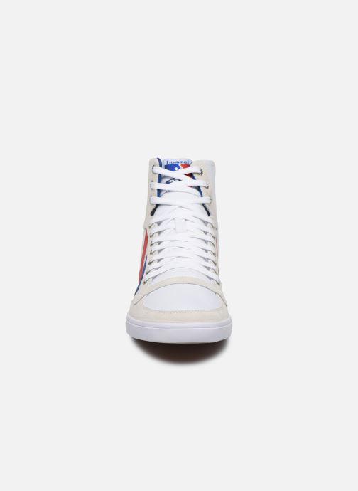 Baskets Hummel Hummel Slimmer Stadil High canvas Blanc vue portées chaussures