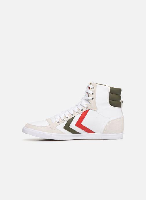 Sneaker Hummel Hummel Slimmer Stadil High canvas weiß ansicht von vorne