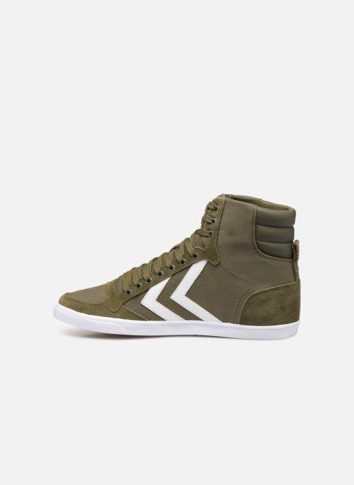 Sneaker Hummel Hummel Slimmer Stadil High canvas grün ansicht von vorne