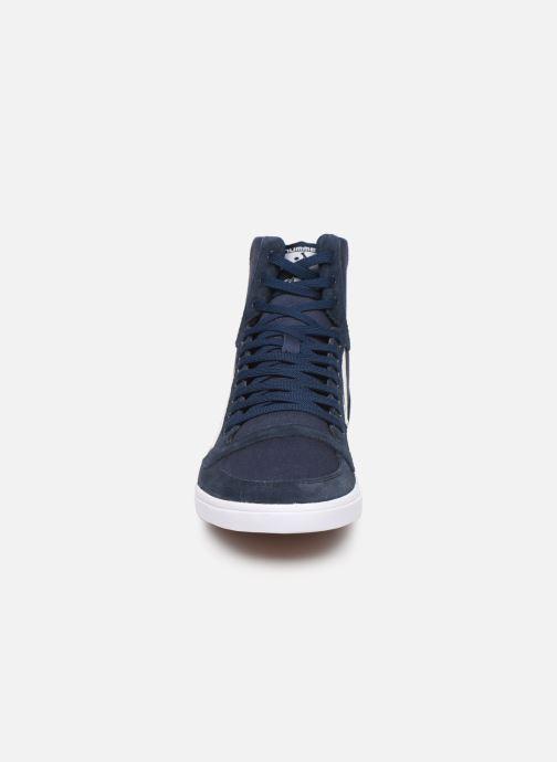 Baskets Hummel Hummel Slimmer Stadil High canvas Bleu vue portées chaussures