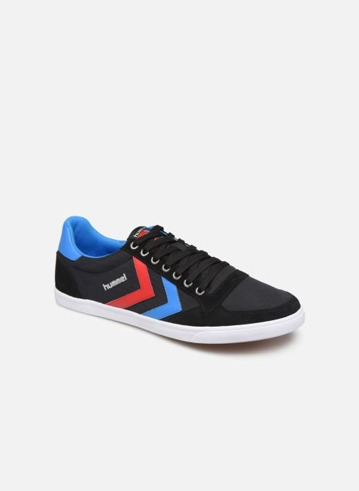 Trainers Hummel Hummel Slimmer Stadil Low canvas Black detailed view/ Pair view