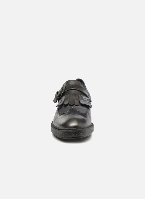 Mocassins Geox D PRESTYN C Gris vue portées chaussures