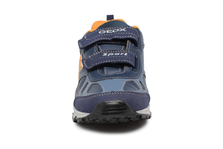 Baskets Geox J BERNIE C Bleu vue portées chaussures