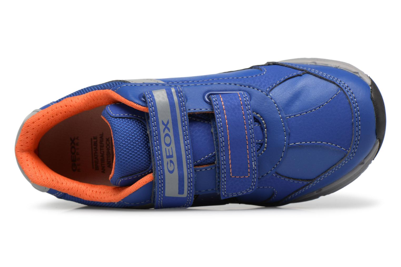 Baskets Geox J TOP FLY B. B Bleu vue gauche