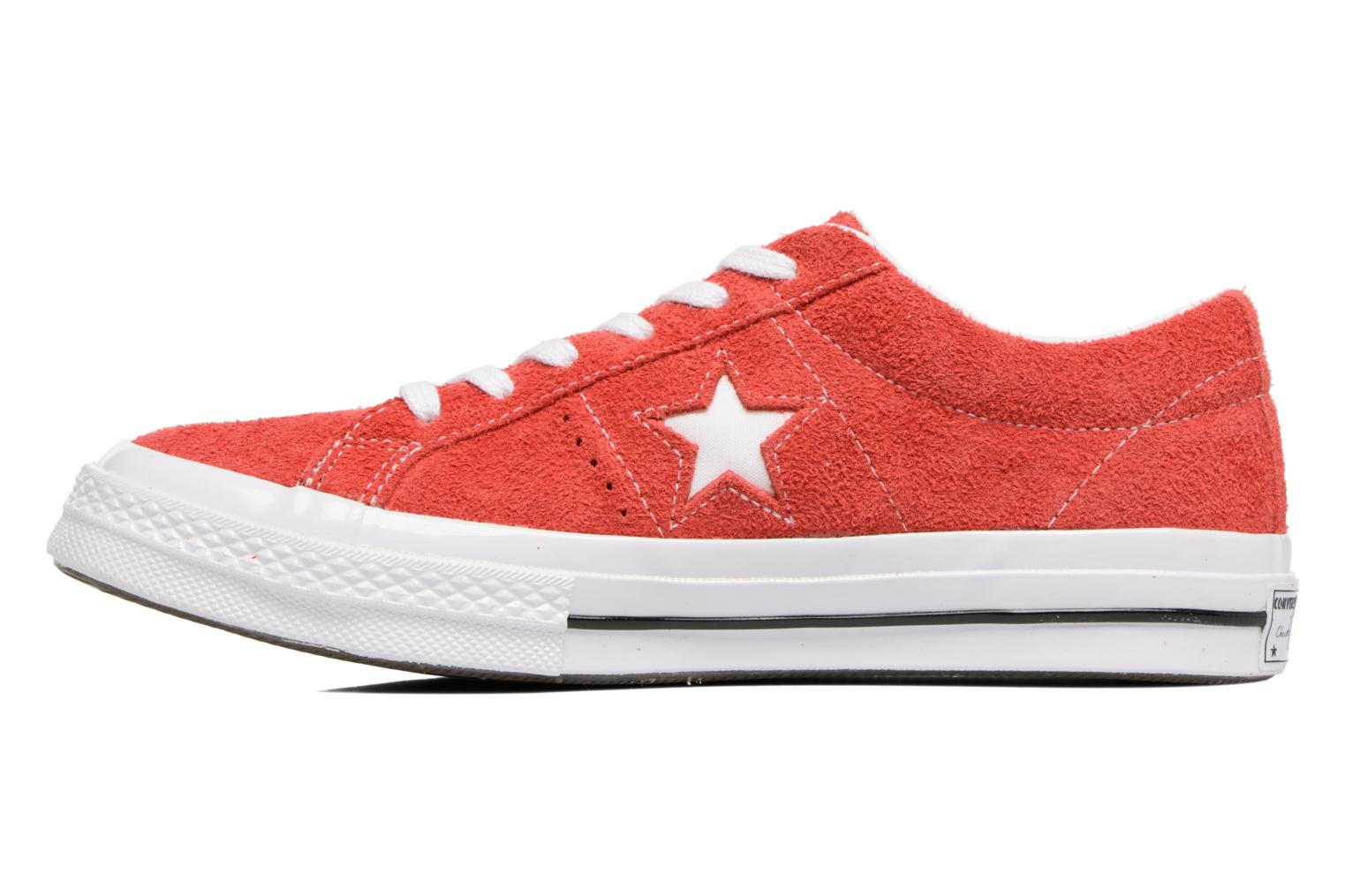 Baskets Converse One Star OG Suede Ox W Rouge vue face