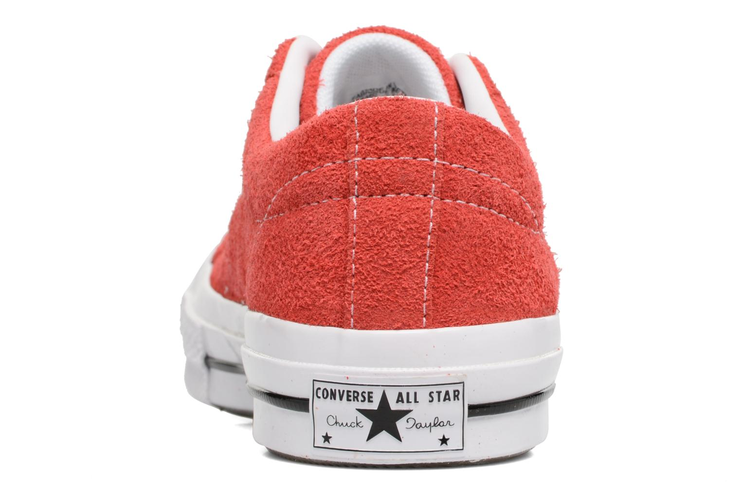 Baskets Converse One Star OG Suede Ox W Rouge vue droite