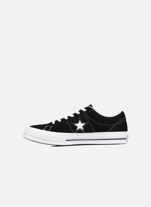 Sneaker Converse One Star OG Suede Ox schwarz ansicht von vorne