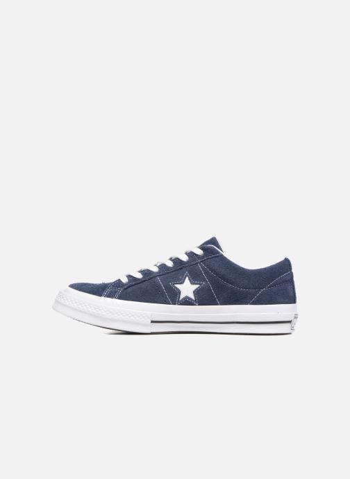 Baskets Converse One Star OG Suede Ox Bleu vue face