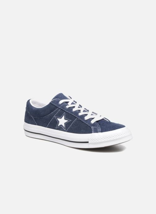Deportivas Converse One Star OG Suede Ox Azul vista de detalle / par