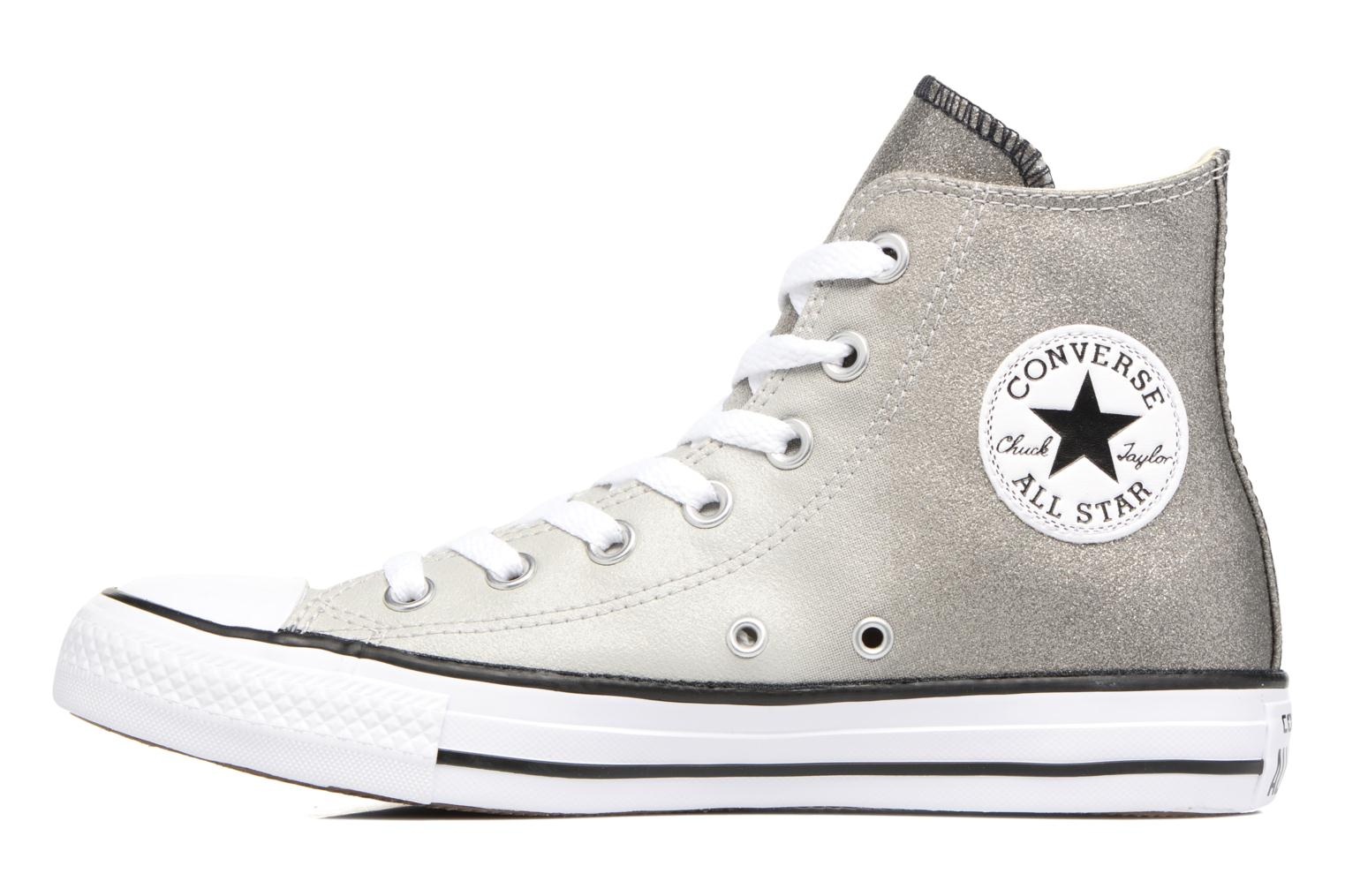Baskets Converse Chuck Taylor All Star Ombre Metallic Hi W Gris vue face