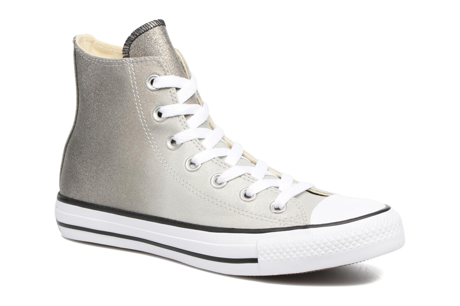 Baskets Converse Chuck Taylor All Star Ombre Metallic Hi W Gris vue détail/paire