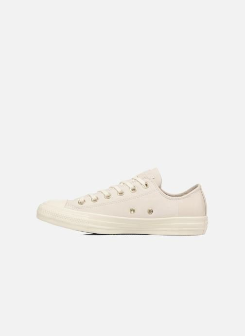 Baskets Converse Chuck Taylor All Star Blocked Nubuck Ox Blanc vue face