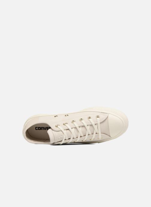 Baskets Converse Chuck Taylor All Star Blocked Nubuck Ox Blanc vue gauche