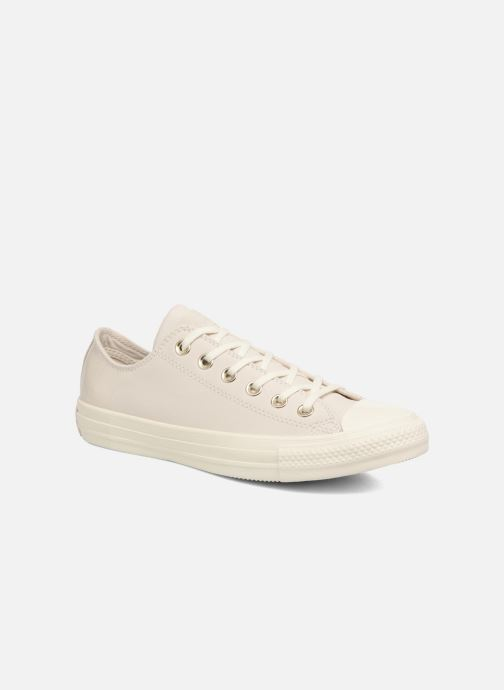 Baskets Converse Chuck Taylor All Star Blocked Nubuck Ox Blanc vue détail/paire
