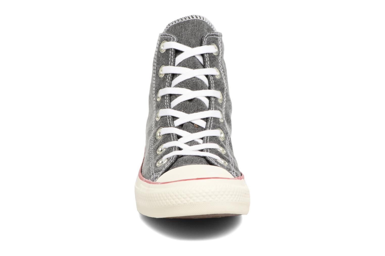 Baskets Converse Chuck Taylor All Star Stone Wash Hi W Noir vue portées chaussures
