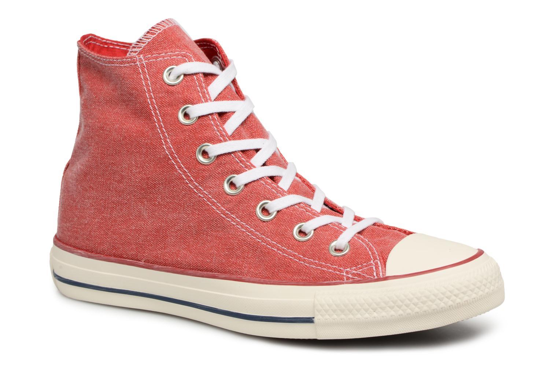 Baskets Converse Chuck Taylor All Star Stone Wash Hi W Rouge vue détail/paire