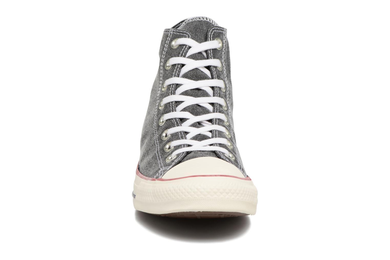 Baskets Converse Chuck Taylor All Star Stone Wash Hi M Noir vue portées chaussures