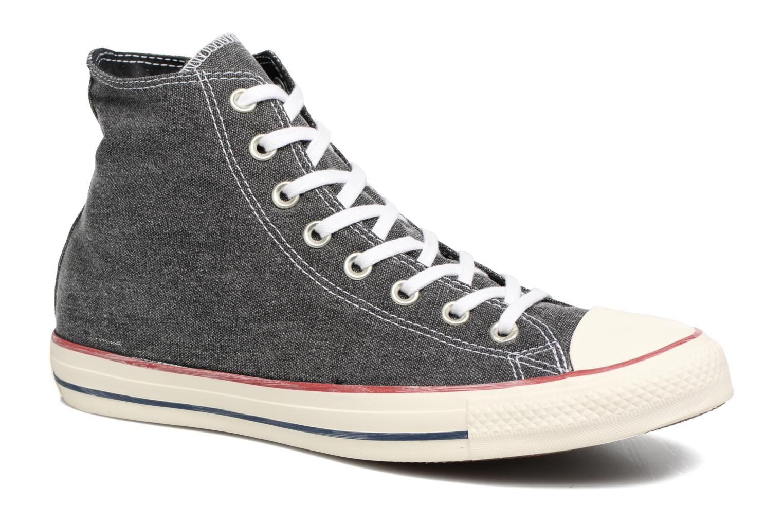 Baskets Converse Chuck Taylor All Star Stone Wash Hi M Noir vue détail/paire