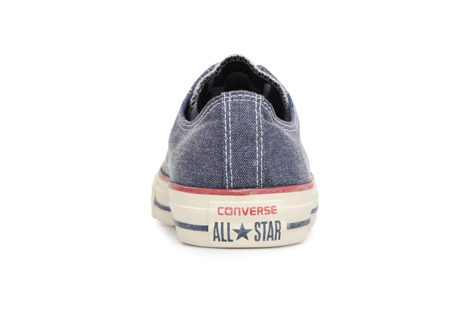 Baskets Converse Chuck Taylor All Star Stone Wash Ox W Bleu vue droite