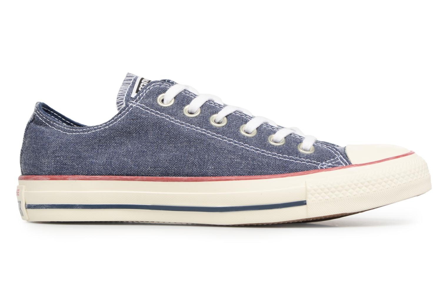 Baskets Converse Chuck Taylor All Star Stone Wash Ox W Bleu vue derrière