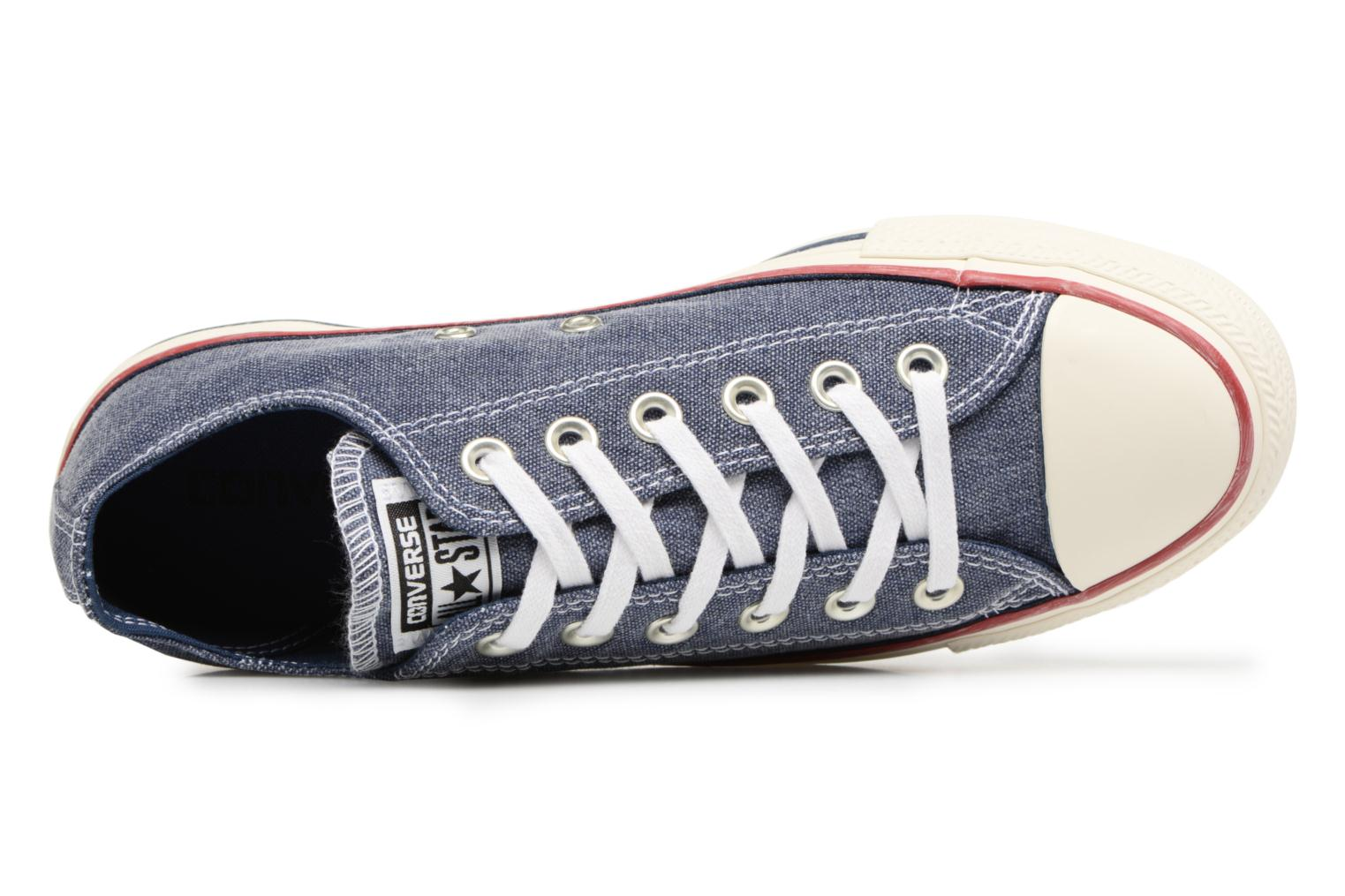 Baskets Converse Chuck Taylor All Star Stone Wash Ox W Bleu vue gauche