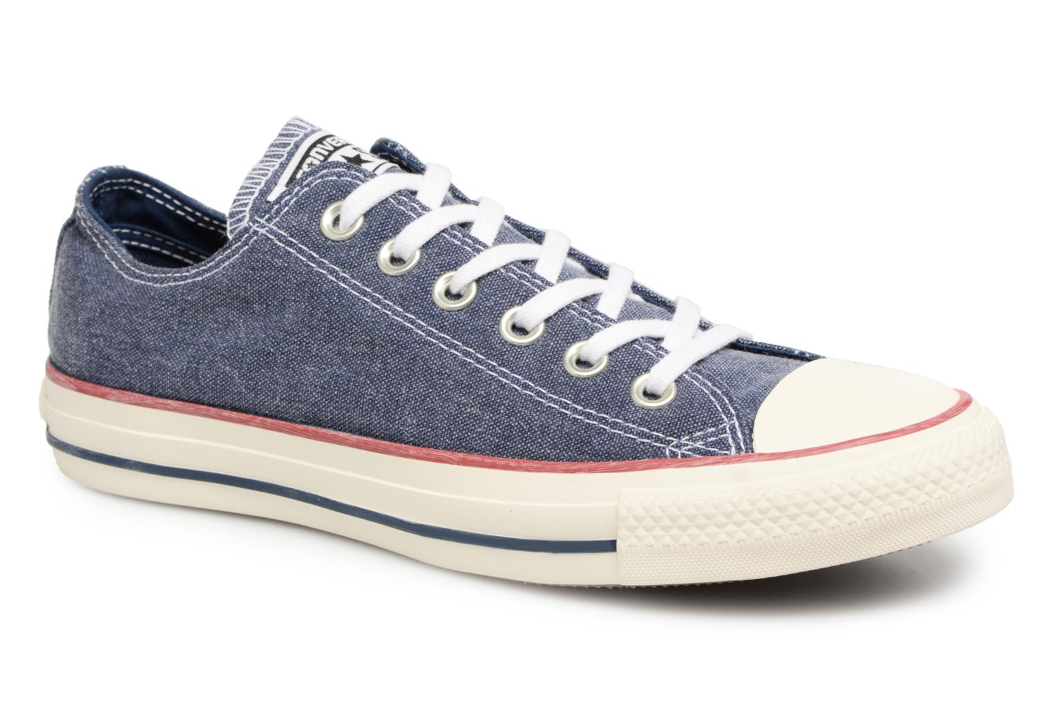 Baskets Converse Chuck Taylor All Star Stone Wash Ox W Bleu vue détail/paire