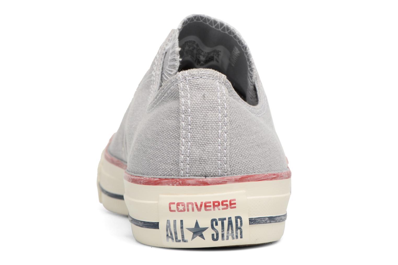 Baskets Converse Chuck Taylor All Star Stone Wash Ox W Bleu vue droite