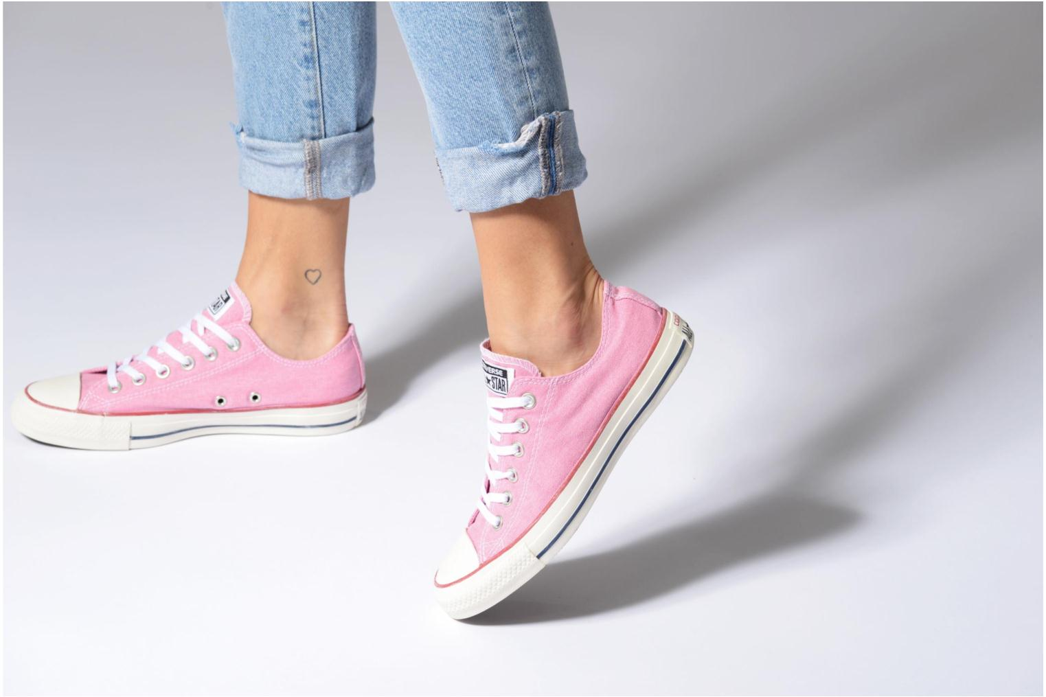Sneakers Converse Chuck Taylor All Star Stone Wash Ox W Pink se forneden