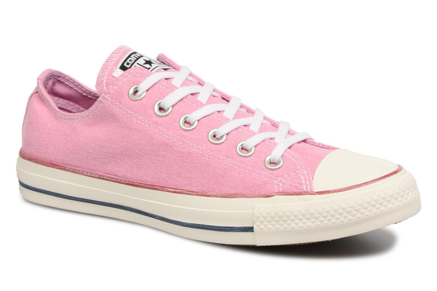 Baskets Converse Chuck Taylor All Star Stone Wash Ox W Rose vue détail/paire