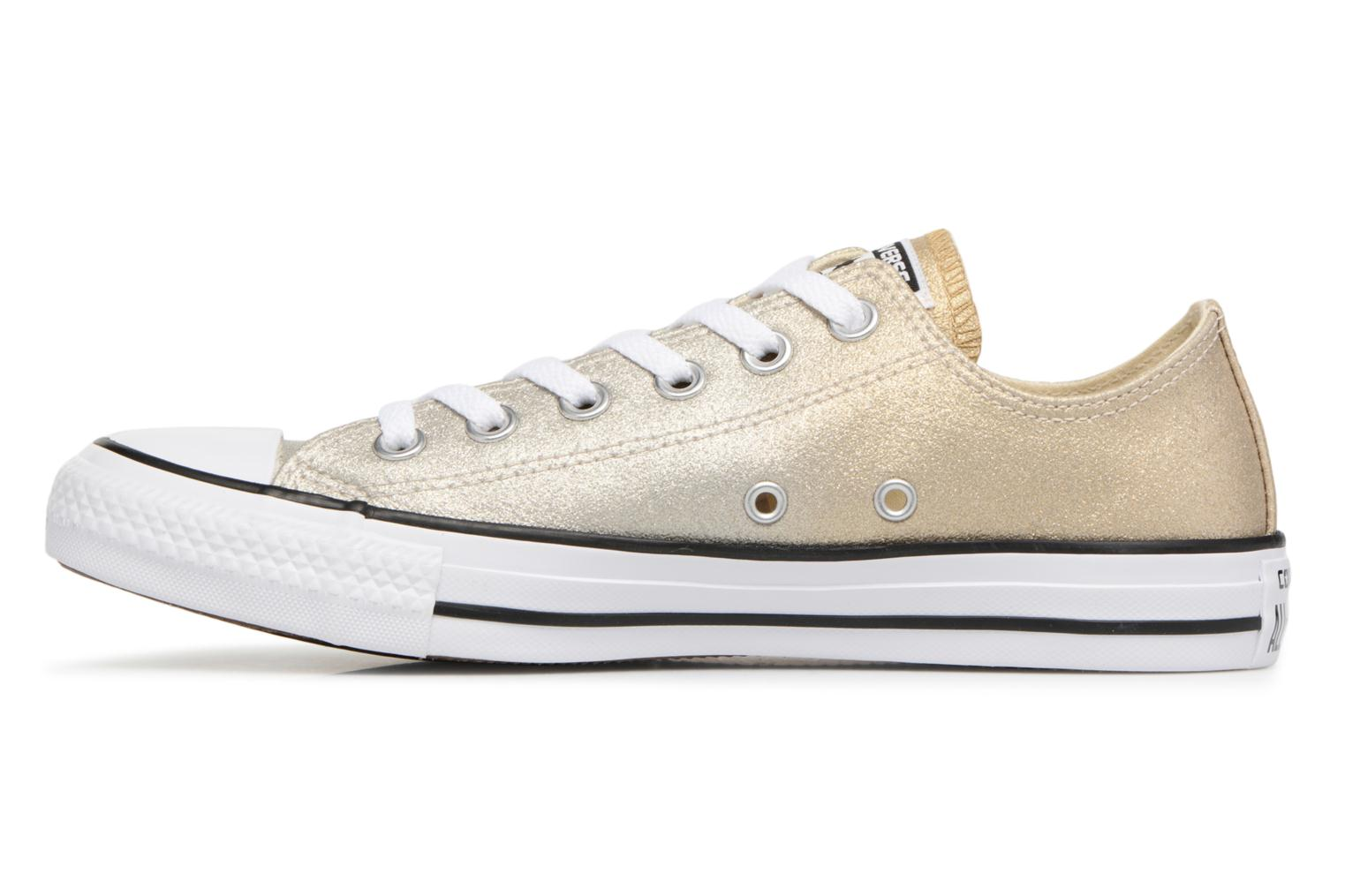 Baskets Converse Chuck Taylor All Star Ombre Metallic Ox Or et bronze vue face