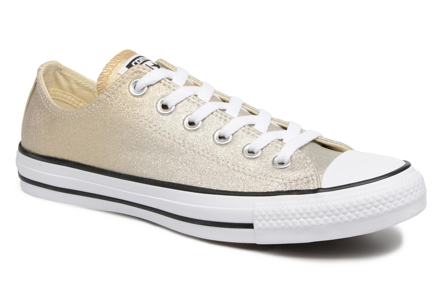 Baskets Converse Chuck Taylor All Star Ombre Metallic Ox Or et bronze vue détail/paire