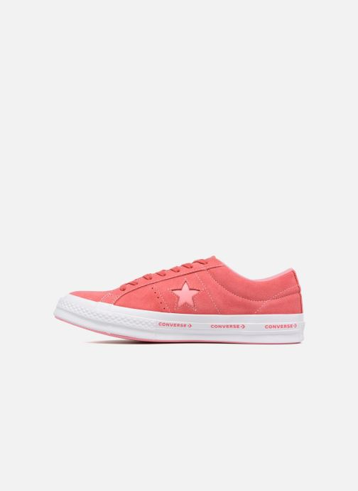Baskets Converse One Star Converse Pinstripe Ox Rose vue face