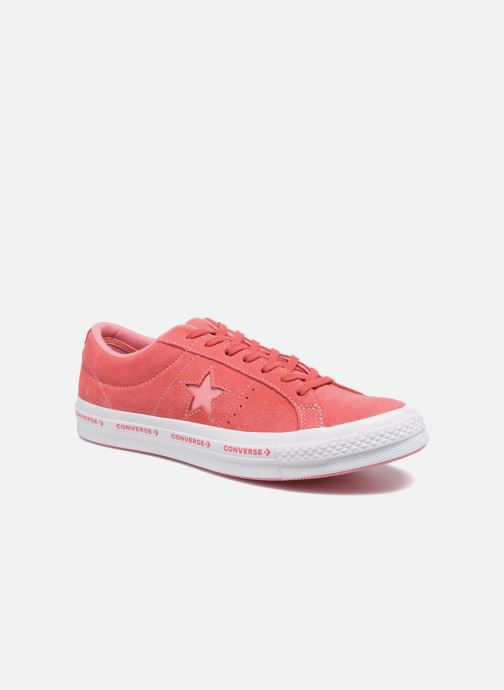 Baskets Converse One Star Converse Pinstripe Ox Rose vue détail/paire