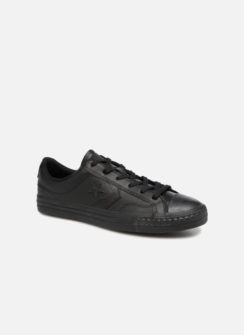 Trainers Converse Star Player Leather Essentials Ox Black detailed view   Pair view 945db6fa2