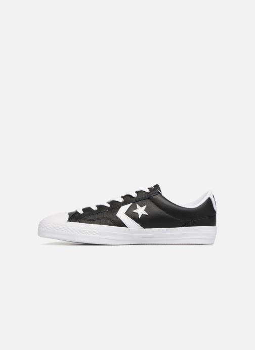 Sneaker Converse Star Player Leather Essentials Ox schwarz ansicht von vorne