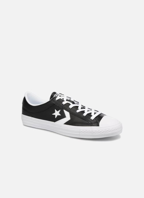 Trainers Converse Star Player Leather Essentials Ox Black detailed view/ Pair view