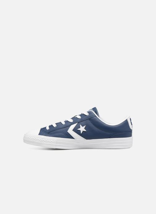 Sneakers Converse Star Player Leather Essentials Ox Blauw voorkant