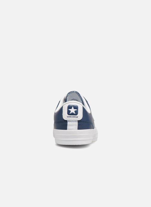 Baskets Converse Star Player Leather Essentials Ox Bleu vue droite